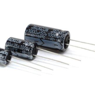 CAP. ELECTROLITICO 105º 100uF 50V