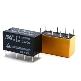RELAY 2 INV. 6VDC 2 AMP.