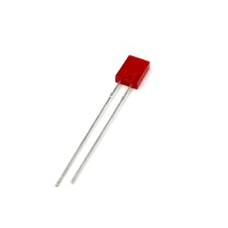 LED RECTANGULAR 2x5mm ROJO