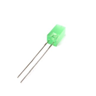 LED CUADRADO 5x5mm VERDE DIFUSO