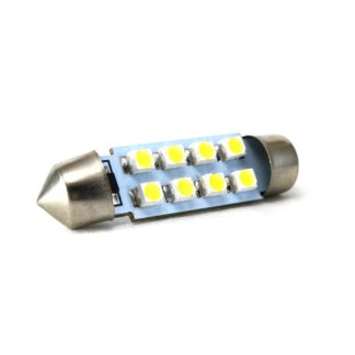 LAMPARA BLANCA 10x39mm C/8 LED SMD