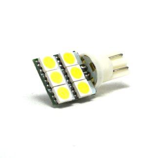 LED P/AUTO FORMATO T10 C/6 LED SMD 5050 BLANCO