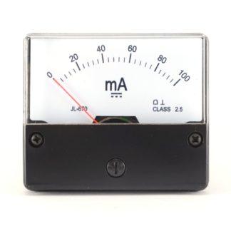 MILIAMPERIMETRO ANALOGICO 0-100mA (CONTINUA)
