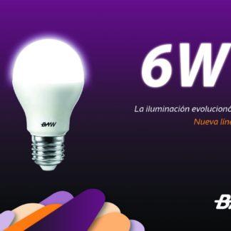 LAMPARA A60 220V E27 6W LUZ CALIDA