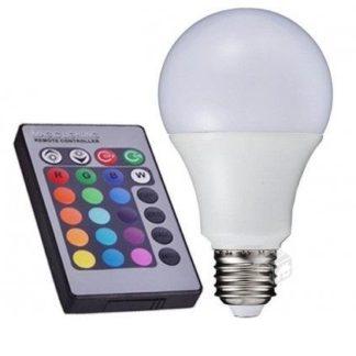 LAMPARA A60 RGB C/CONTROL REMOTO