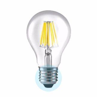 LAMPARA FILAMENTO DE LED E27 220V 10W CALIDA