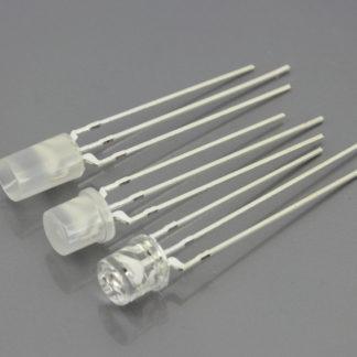 LED 3mm BICOLOR (ROJO/VERDE) A/C 3 PATAS