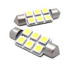 LAMPARA BLANCA 10x31mm TUBO 6 LED SMD