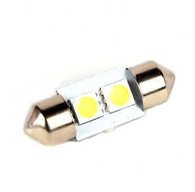 LAMPARA BLANCA 10x39mm C/2 LED PIRAÑA