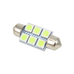 LAMPARA BLANCA 10x39mm C/6 LED PIRAÑA