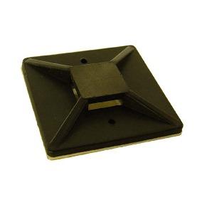 BASE P/PRECINTO 25x25mm NEGRA