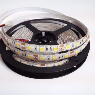TIRA FLEX 60 LED 5050 A PRUEBA DE AGUA BL. CALIDO